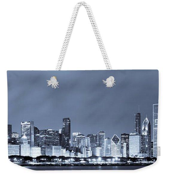 Chicago In Blue Weekender Tote Bag