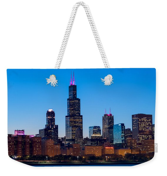 Chicago Lakefront Blues Weekender Tote Bag
