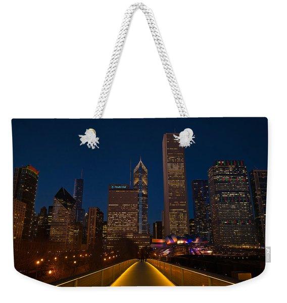 Chicago Lights Weekender Tote Bag