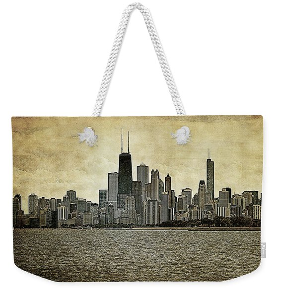 Chicago On Canvas Weekender Tote Bag