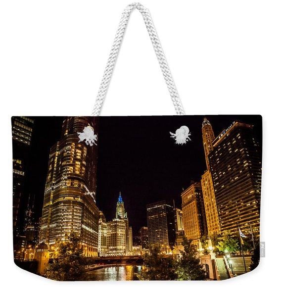 Chicago Riverwalk Weekender Tote Bag
