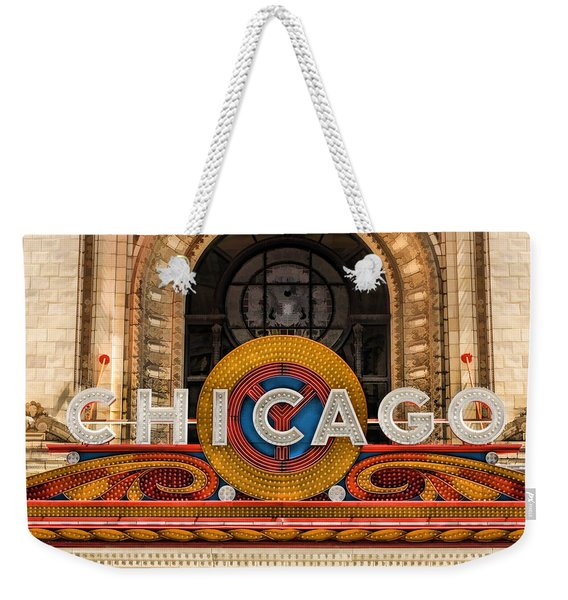 Chicago Theatre Marquee Sign Weekender Tote Bag