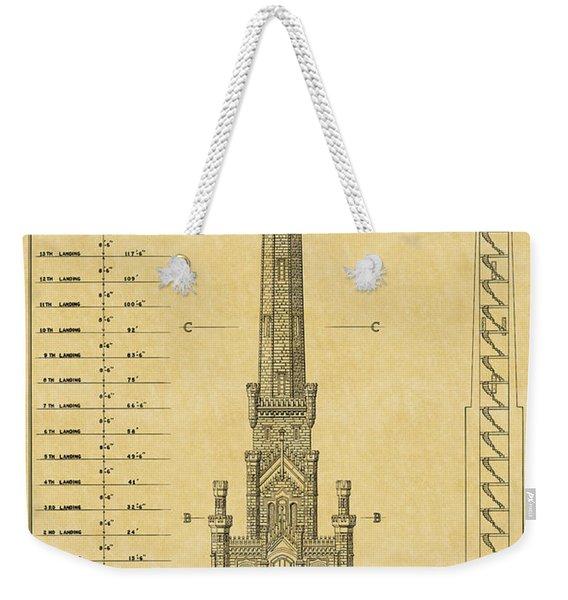 Chicago Water Tower Weekender Tote Bag