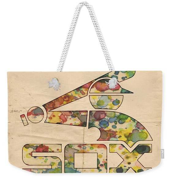 Chicago White Sox Vintage Poster Weekender Tote Bag