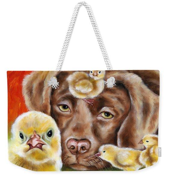 Chick Sitting Afternoon Weekender Tote Bag