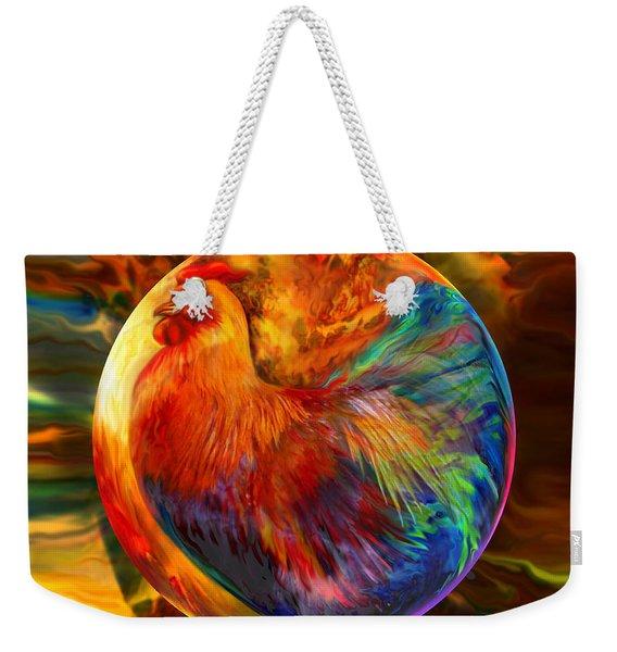 Chicken In The Round Weekender Tote Bag