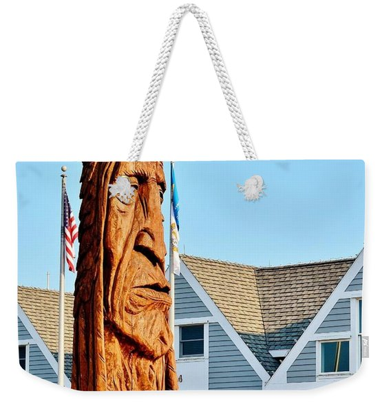 Weekender Tote Bag featuring the photograph Chief Little Owl by Kim Bemis