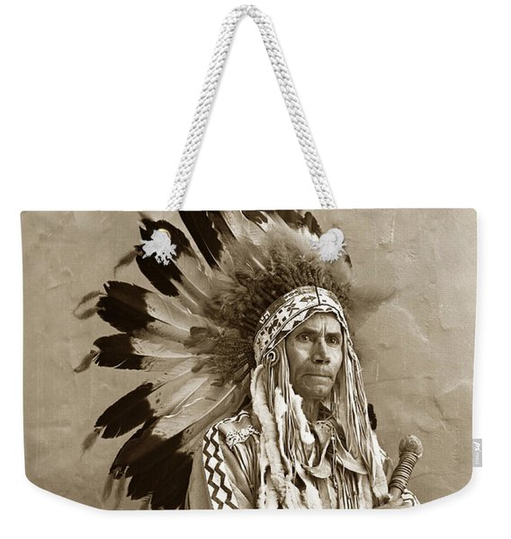 Chief Red Eagle Carmel California Circa 1940 Weekender Tote Bag
