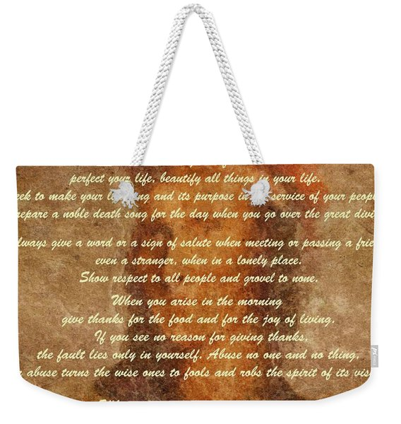Chief Tecumseh Poem Weekender Tote Bag