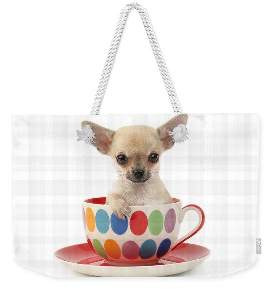 Chihuahua In Cup Dp684 Weekender Tote Bag