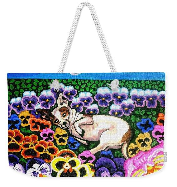Chihuahua In Flowers Weekender Tote Bag