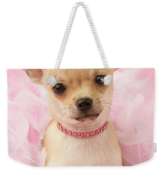Chihuahua With Feather Boa Weekender Tote Bag