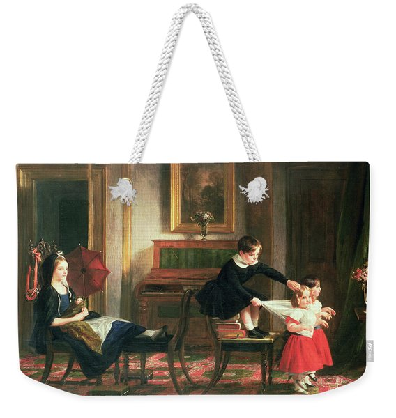Children Playing At Coach And Horses Weekender Tote Bag