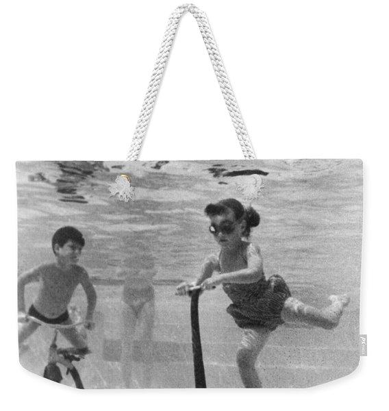 Children Playing Under Water Weekender Tote Bag