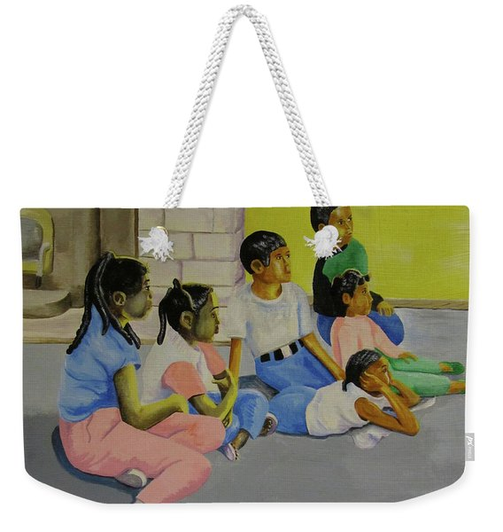 Children's Attention Span  Weekender Tote Bag