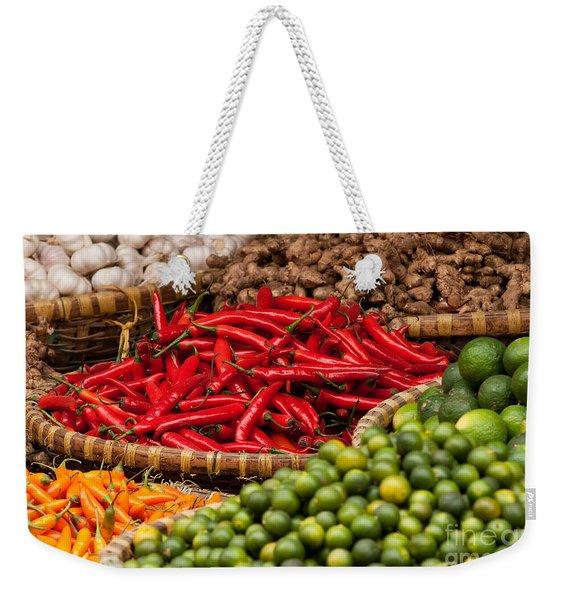 Chillies 01 Weekender Tote Bag