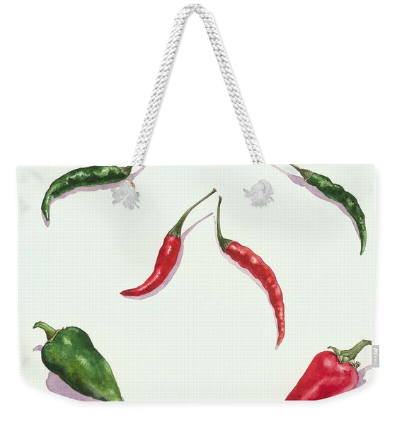 Chillies And Peppers Weekender Tote Bag