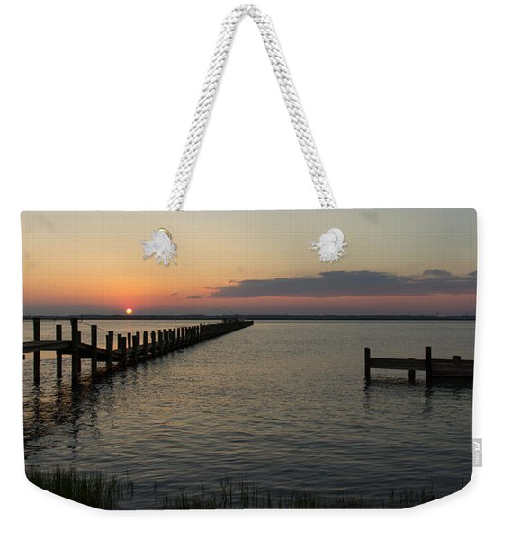 Chincoteague Island Sunset Weekender Tote Bag