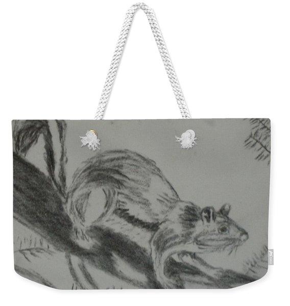 Chipmunk On The Prowl Weekender Tote Bag