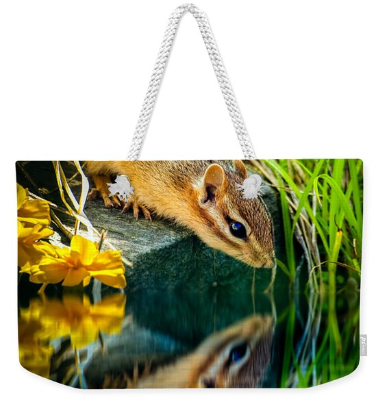 Chipmunk Reflection Weekender Tote Bag