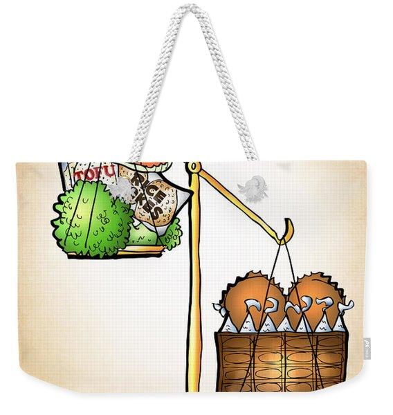 Chocolate Always Wins Weekender Tote Bag