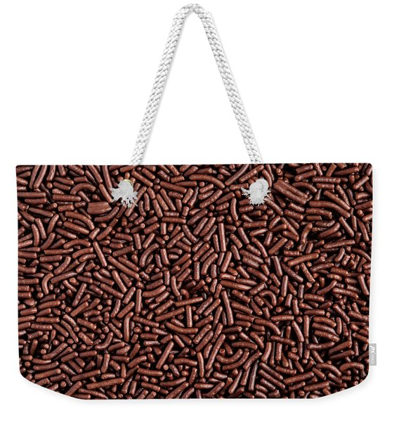 Chocolate Vermicelli Background Weekender Tote Bag