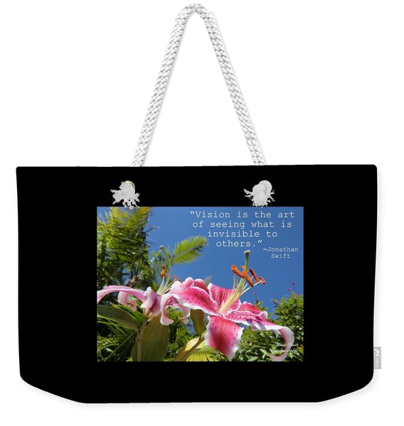 Choose Your Quote Choose Your Picture 19 Weekender Tote Bag