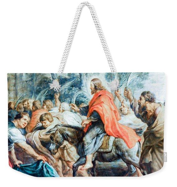 Christ Entry Into Jerusalem Weekender Tote Bag