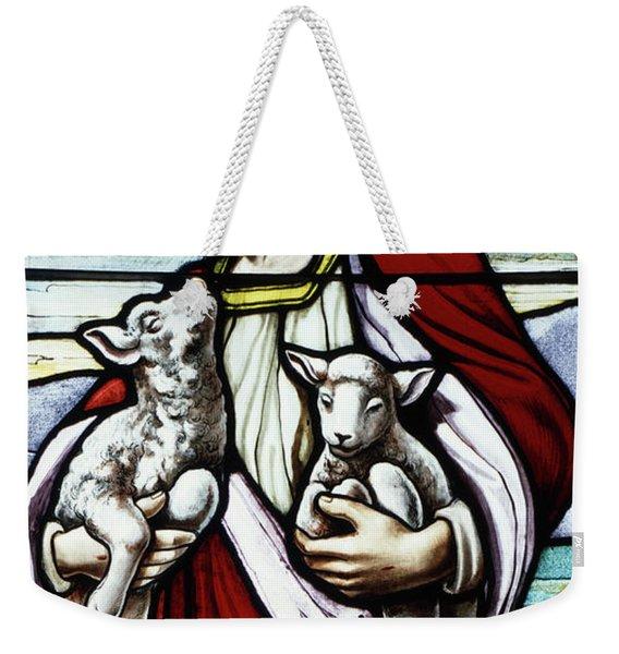 Christ The Good Shepherd With His Flock Weekender Tote Bag
