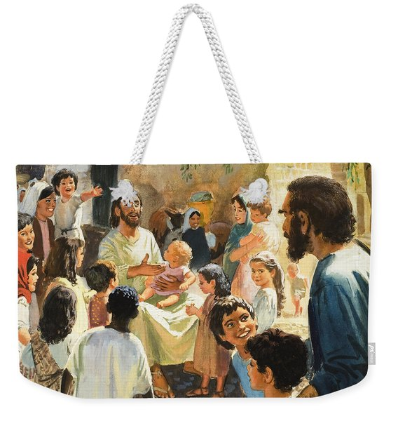 Christ With Children Weekender Tote Bag