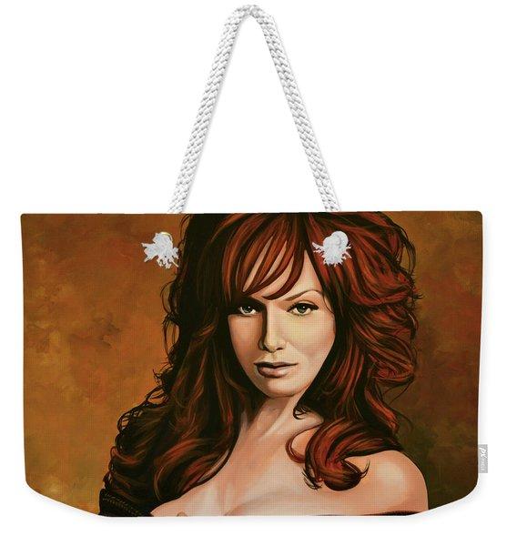 Christina Hendricks Painting Weekender Tote Bag