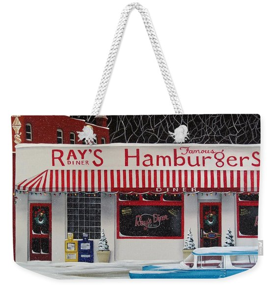 Christmas At Ray's Diner Weekender Tote Bag