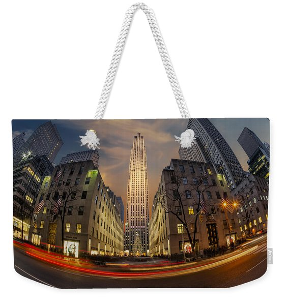 Christmas At Rockefeller Center Weekender Tote Bag