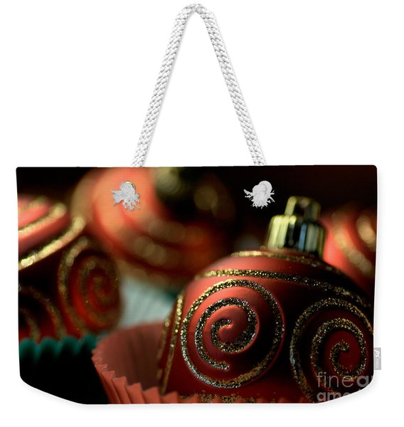 Christmas Bauble Cupcakes Weekender Tote Bag