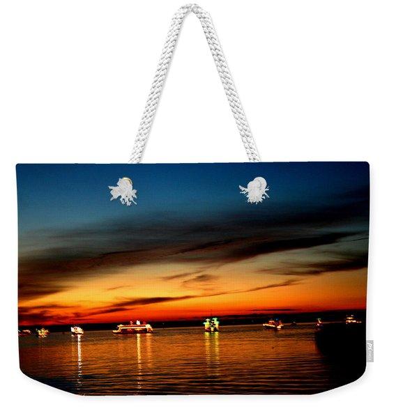 Christmas Boat Parade - Delta Loop Weekender Tote Bag