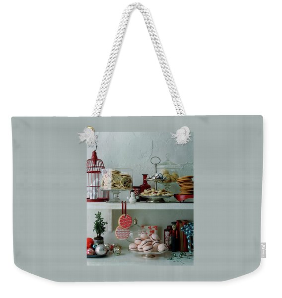 Christmas Cookies And Ornaments Weekender Tote Bag