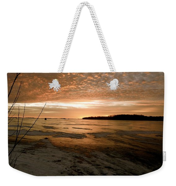 Christmas Ice Weekender Tote Bag