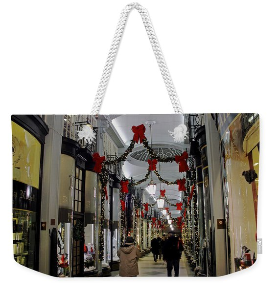 Christmas In Piccadilly Arcade Weekender Tote Bag
