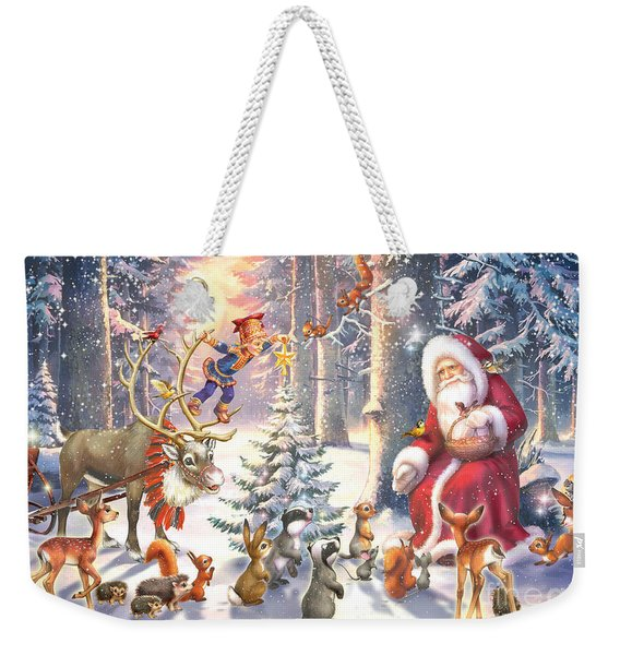 Christmas In The Forest Weekender Tote Bag