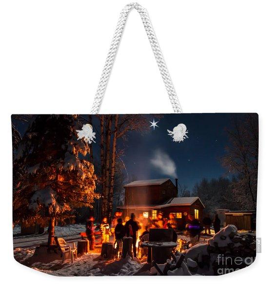 Christmas In The Woods Weekender Tote Bag
