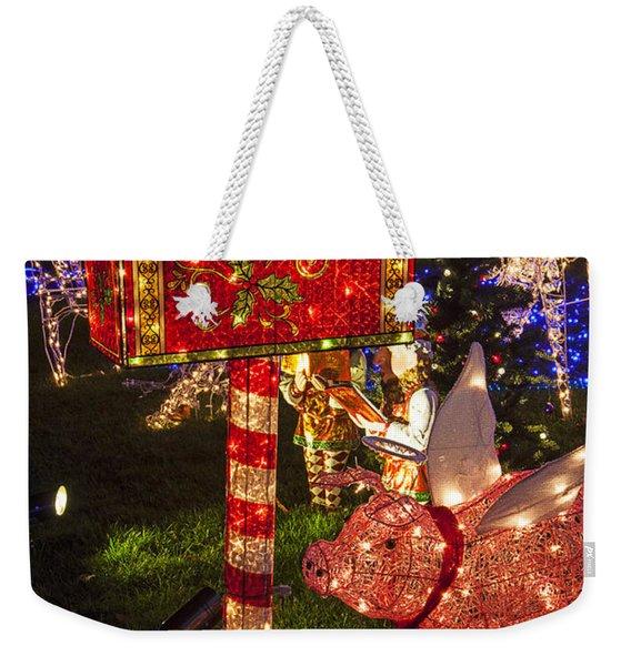 Christmas Mailbox Weekender Tote Bag