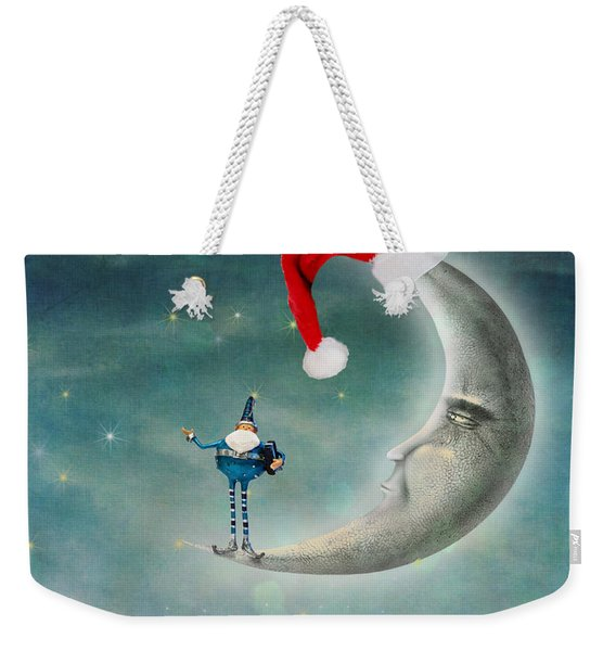 Christmas Moon Weekender Tote Bag