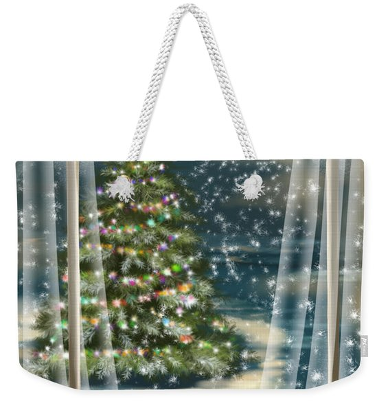 Christmas Night Weekender Tote Bag