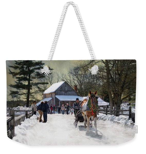 Christmas Paint Weekender Tote Bag