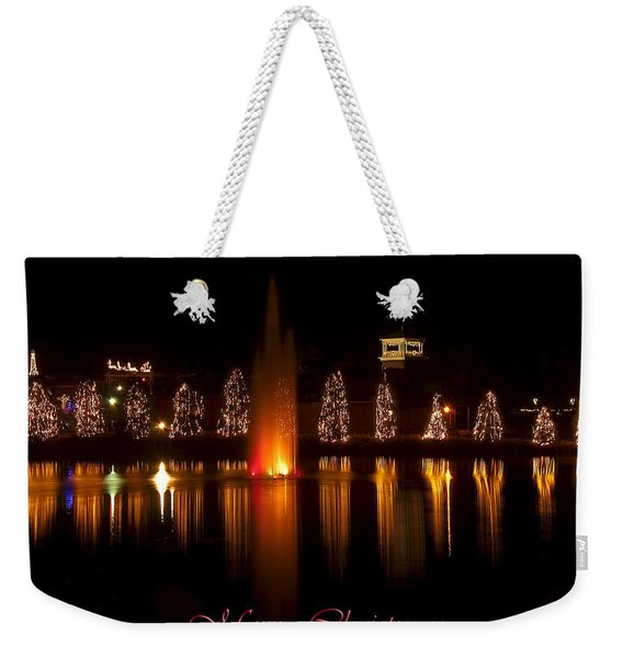 Christmas Reflection - Christmas Card Weekender Tote Bag