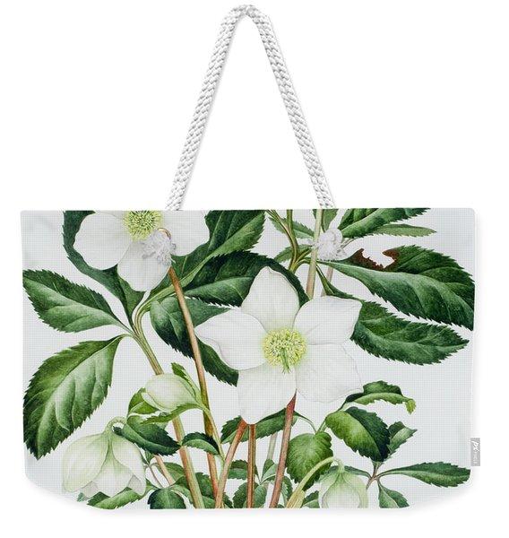 Christmas Rose Weekender Tote Bag