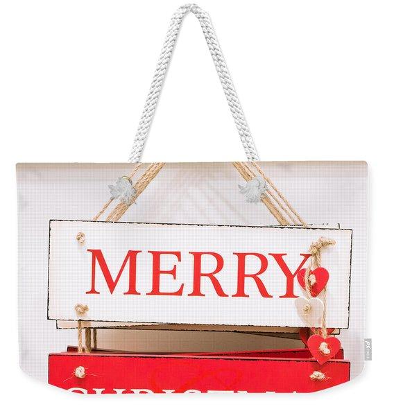 Christmas Sign Weekender Tote Bag