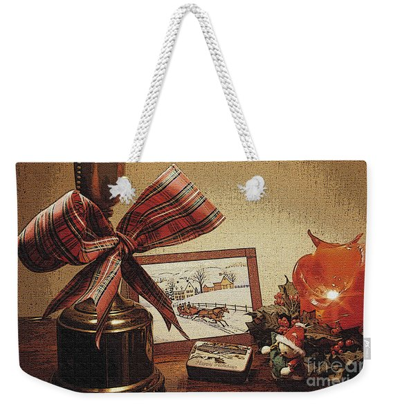 Christmas Still Life Weekender Tote Bag