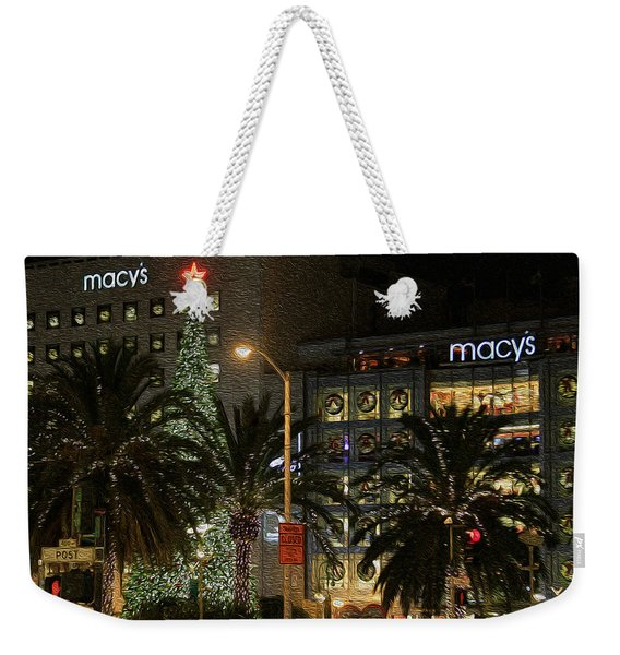 Christmas Tree At Union Square Weekender Tote Bag