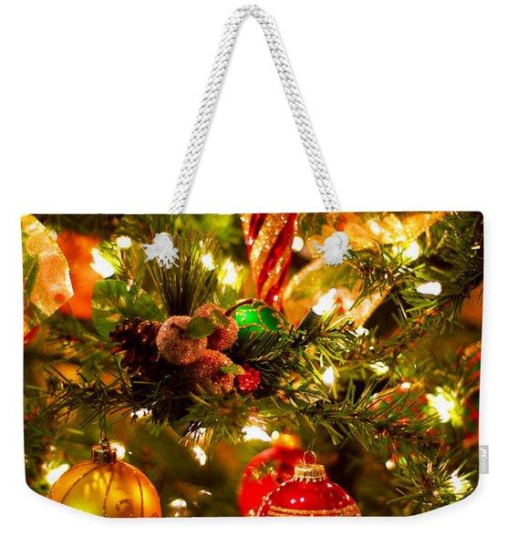 Christmas Tree Background Weekender Tote Bag